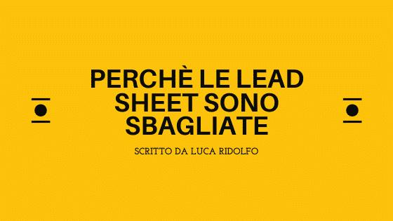 lead sheet sbagliate